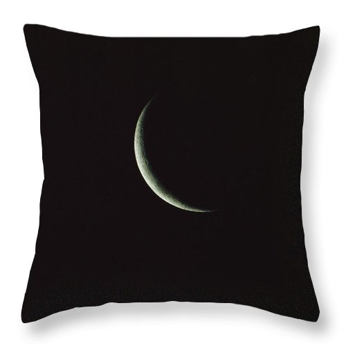 Sky Throw Pillow featuring the photograph A Tiny Sliver Of The Moon by Tim Laman