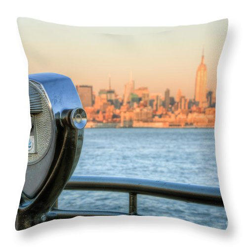 Clarence Holmes Throw Pillow featuring the photograph A View From New Jersey I by Clarence Holmes