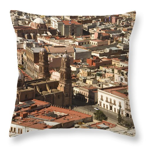 Mexico Throw Pillow featuring the photograph A View Of The Historic Center by Michael S. Lewis