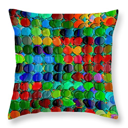 Multicolor Throw Pillow featuring the digital art Abacus by Dee Flouton