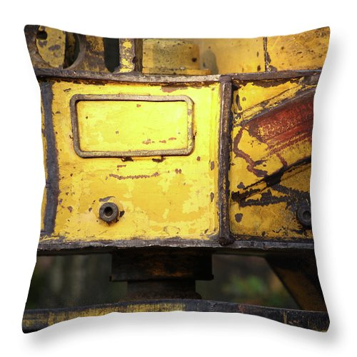 Bulldozer Throw Pillow featuring the photograph Abandoned Machine by Maglioli Studios
