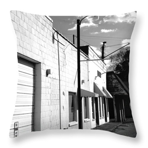 Small Throw Pillow featuring the photograph Abandoned Small Town Usa by Kathy Clark