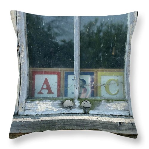 Blocks Throw Pillow featuring the photograph ABC by Lauri Novak