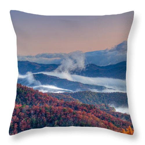 Autumn Throw Pillow featuring the photograph Above The Clouds by Joye Ardyn Durham