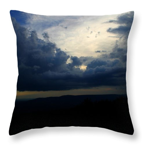 Storm Throw Pillow featuring the photograph Above The Storm by Nina Fosdick