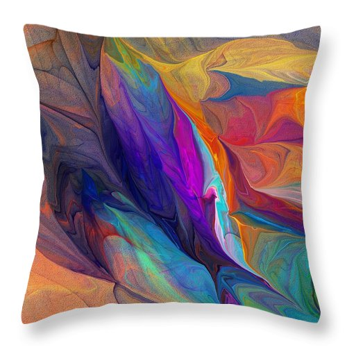 Fine Art Throw Pillow featuring the digital art Abstract 021212 by David Lane