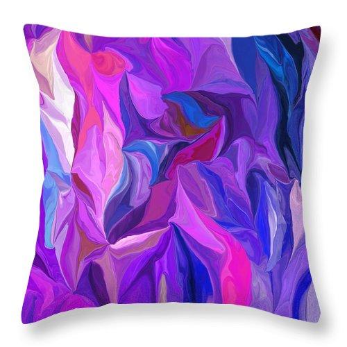 Fine Art Throw Pillow featuring the digital art Abstract 022512 A by David Lane