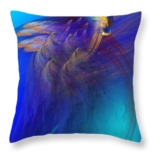 Fine Art Throw Pillow featuring the digital art Abstract 090711 by David Lane