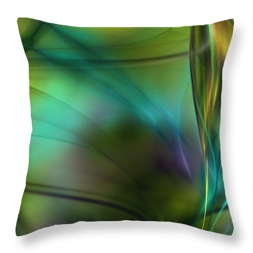 Fine Art Throw Pillow featuring the digital art Abstract 090711a by David Lane