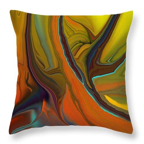 Fine Art Throw Pillow featuring the digital art Abstract 110311 by David Lane
