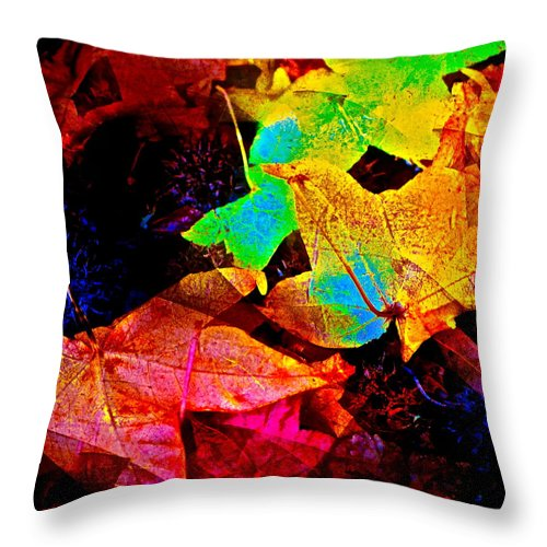 Abstract Throw Pillow featuring the photograph Abstract 130 by Pamela Cooper