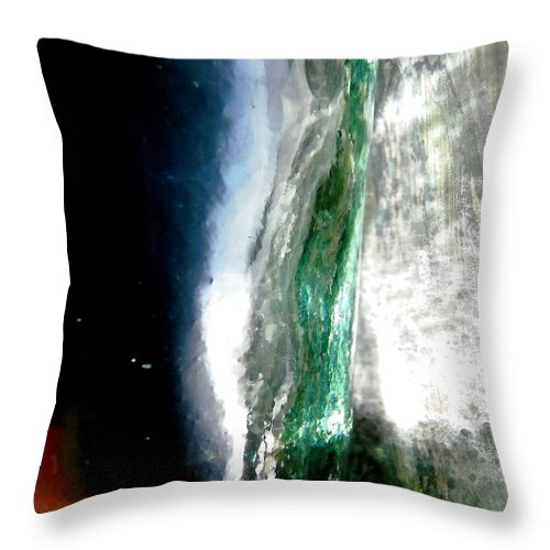 Green Throw Pillow featuring the photograph Abstract 1363 by Stephanie Moore