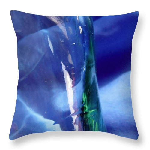 Blue Throw Pillow featuring the photograph Abstract 1367 by Stephanie Moore