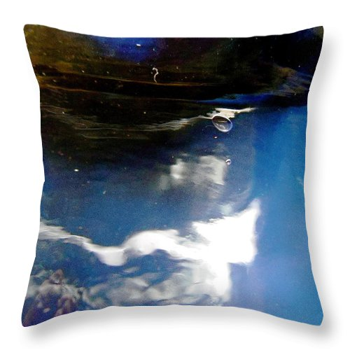 Blue Throw Pillow featuring the photograph Abstract 1370 by Stephanie Moore