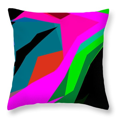 Abstract Throw Pillow featuring the photograph Abstract 14 by Burney Lieberman