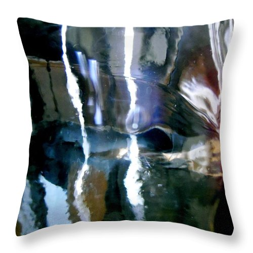 Blue Throw Pillow featuring the photograph Abstract 1409 by Stephanie Moore