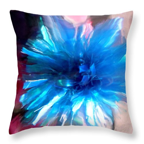 Blue Throw Pillow featuring the photograph Abstract 1500 by Stephanie Moore
