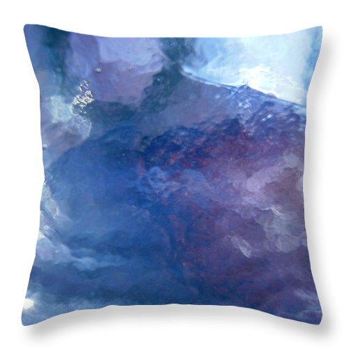 Blue Throw Pillow featuring the photograph Abstract 1505 by Stephanie Moore