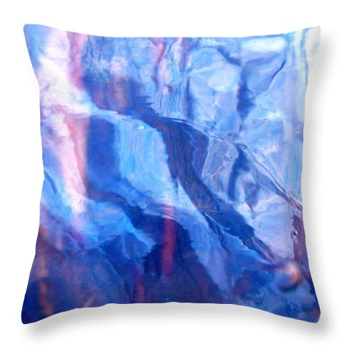 Blue Throw Pillow featuring the photograph Abstract 1506 by Stephanie Moore