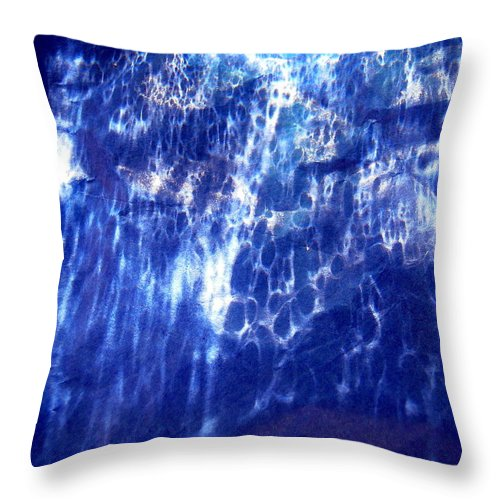 Blue Throw Pillow featuring the photograph Abstract 1508 by Stephanie Moore