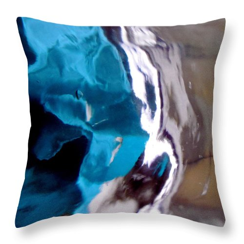 Blue Throw Pillow featuring the photograph Abstract 1538 by Stephanie Moore