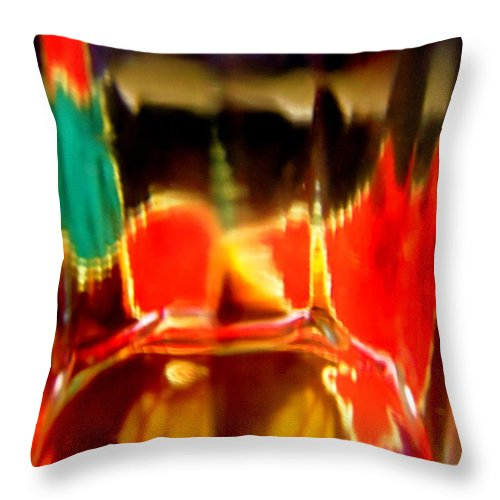 Red Throw Pillow featuring the photograph Abstract 1730 by Stephanie Moore