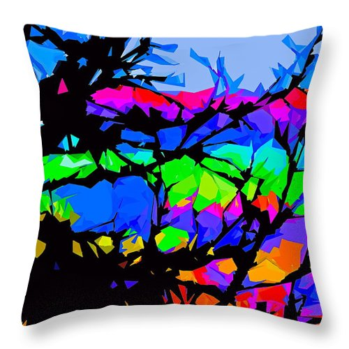 Abstract Throw Pillow featuring the photograph Abstract 174 by Pamela Cooper