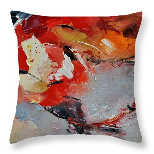 Abstract Throw Pillow featuring the painting Abstract 1852321 by Pol Ledent