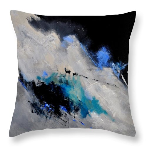 Abstract Throw Pillow featuring the painting Abstract 1888112 by Pol Ledent