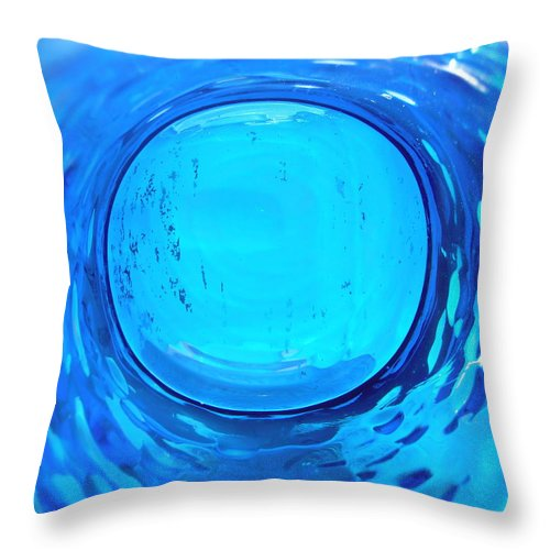Blue Throw Pillow featuring the photograph Abstract 1894 by Stephanie Moore