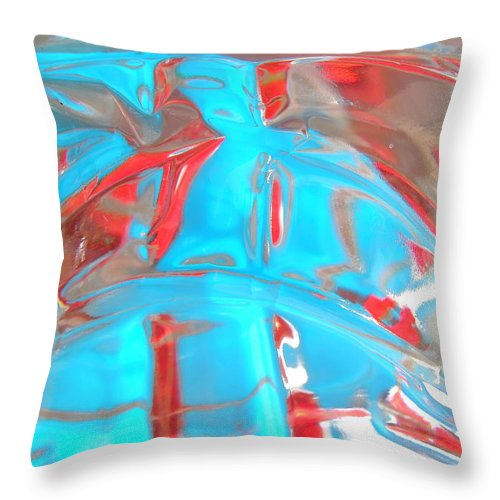 Blue Throw Pillow featuring the photograph Abstract 1896 by Stephanie Moore