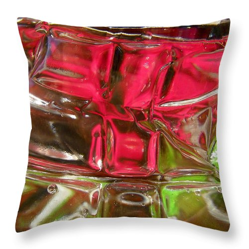 Red Throw Pillow featuring the photograph Abstract 1913 by Stephanie Moore
