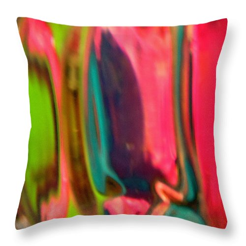 Red Throw Pillow featuring the photograph Abstract 1915 by Stephanie Moore