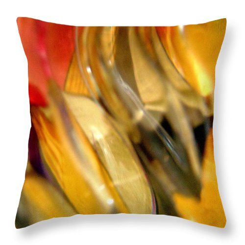 Yellow Throw Pillow featuring the photograph Abstract 1916 by Stephanie Moore