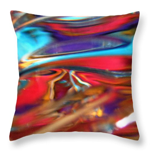 Red Throw Pillow featuring the photograph Abstract 1918 by Stephanie Moore
