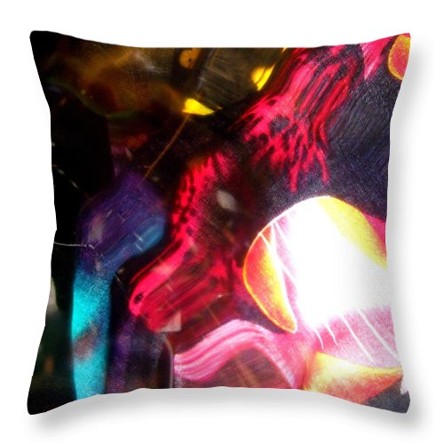 Red Throw Pillow featuring the photograph Abstract 1936 by Stephanie Moore