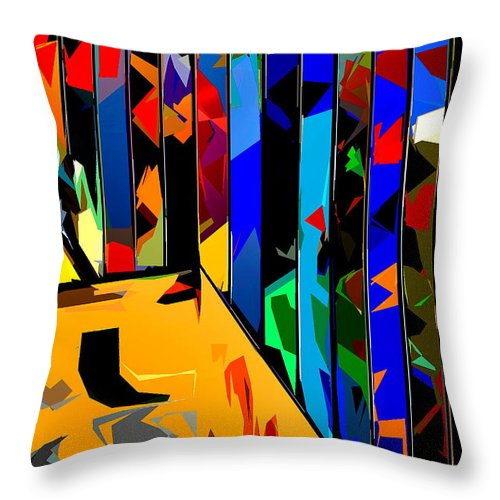 Abstract Throw Pillow featuring the photograph Abstract 26 by Burney Lieberman