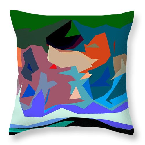 Abstract Throw Pillow featuring the photograph Abstract 28 by Burney Lieberman