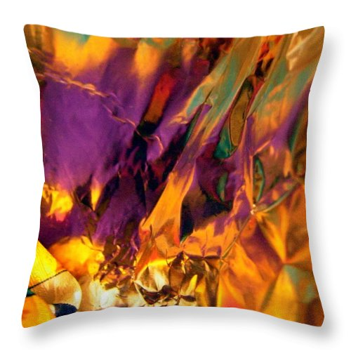 Purple Throw Pillow featuring the photograph Abstract 3196 by Stephanie Moore