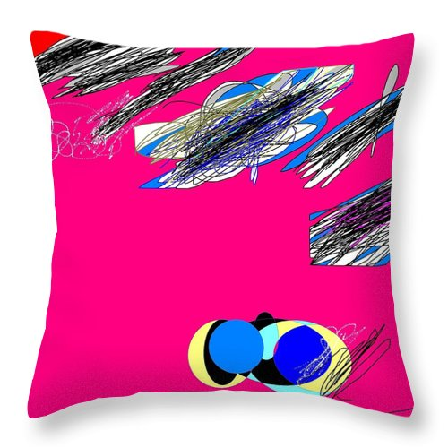 Abstract Throw Pillow featuring the digital art Abstract 32 by Jerry Conner