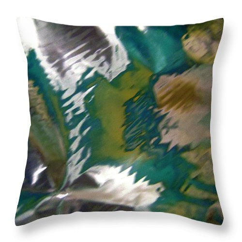 Green Throw Pillow featuring the photograph Abstract 3224 by Stephanie Moore