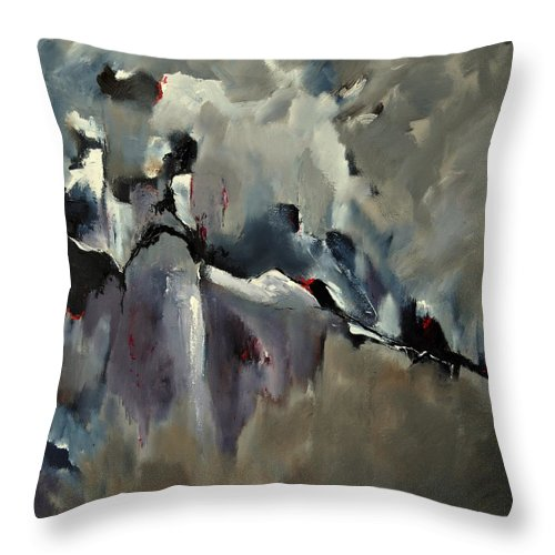 Abstract Throw Pillow featuring the painting Abstract 8821205 by Pol Ledent