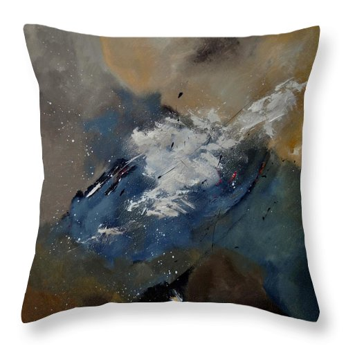 Abstract Throw Pillow featuring the painting Abstract 8821206 by Pol Ledent