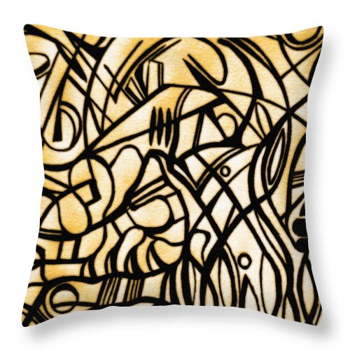 Flowers Throw Pillow featuring the photograph Abstract Art Gold by Sumit Mehndiratta