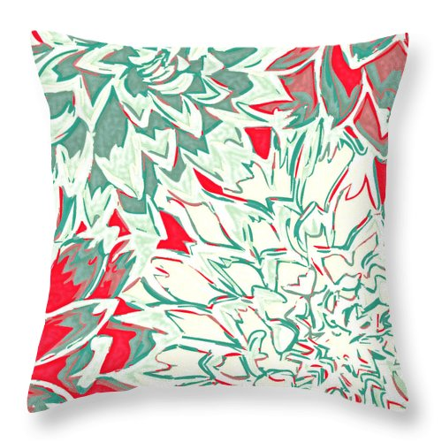 Flowers Throw Pillow featuring the photograph Abstract Flower 16 by Sumit Mehndiratta
