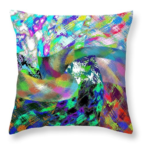 Abstract Fusion Throw Pillow featuring the digital art Abstract Fusion 15 by Will Borden