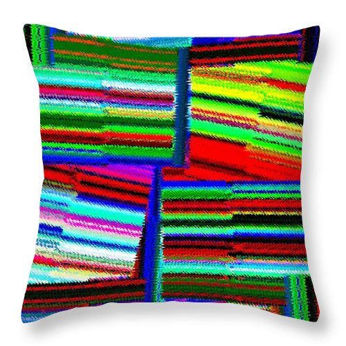 Abstract Fusion Throw Pillow featuring the digital art Abstract Fusion 77 by Will Borden