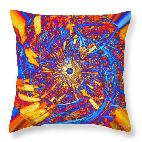 Abstract Throw Pillow featuring the photograph Abstract Globe by Rrrose Pix