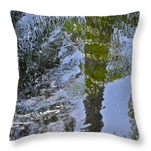 Palms Throw Pillow featuring the photograph Abstract Palm Reflections by Kirsten Giving