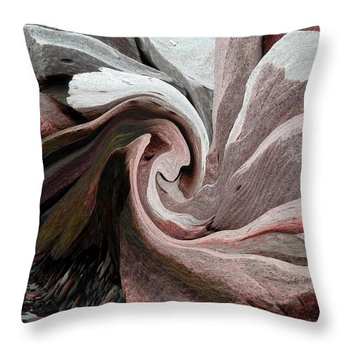 Abstract Pink Throw Pillow featuring the photograph Abstract Pink by Marcia Lee Jones